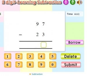 2 digit subtraction